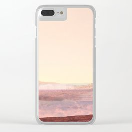 Pink Desert Landscape, Abstract Modern Southwest Clear iPhone Case