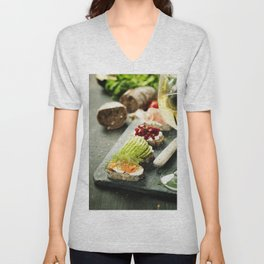 healthy sandwiches Unisex V-Neck