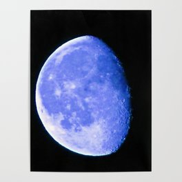 Icy Blue Moon Poster