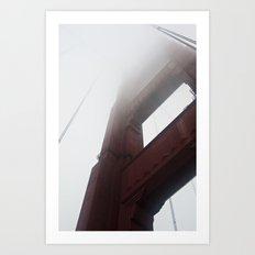 Golden Gate Bridge + Fog (2) Art Print