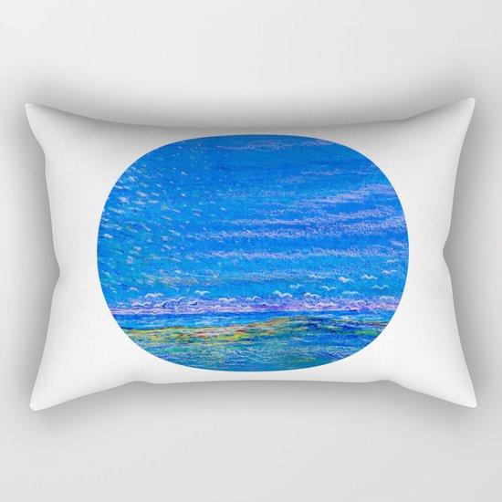 Blue landscape I Rectangular Pillow