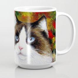 Cat 566 fall autumn Coffee Mug