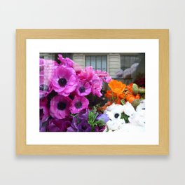 Flower Shop Window Framed Art Print