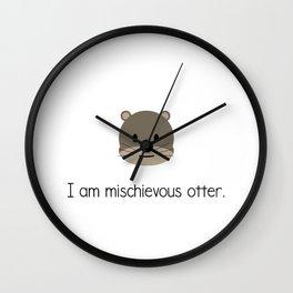 Mischievous Otter Wall Clock