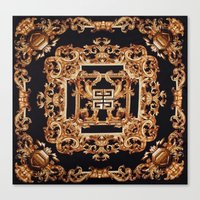 givenchy Canvas Prints featuring Fancy Givenchy by Goldflakes