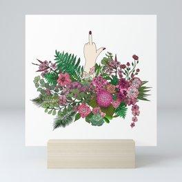Botanical Bird Bouquet Mini Art Print