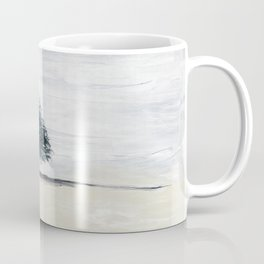 Lone tree in desert Coffee Mug