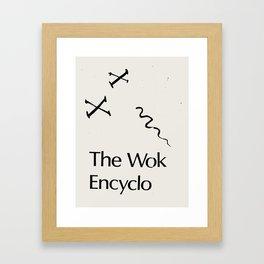 The Wok Encyclo Framed Art Print