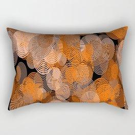 circle rings abstract optics Rectangular Pillow
