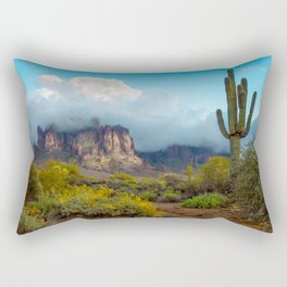 Clearing Storm Over the Superstition Mountians Rectangular Pillow