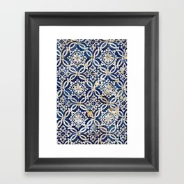 Portuguese glazed tiles Framed Art Print