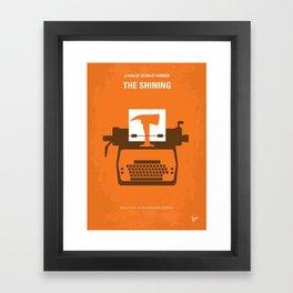 No094 My Shining minimal movie poster Framed Art Print