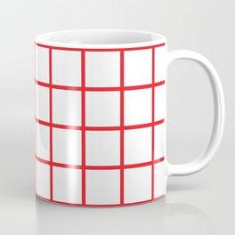 Red Grid Pattern Coffee Mug