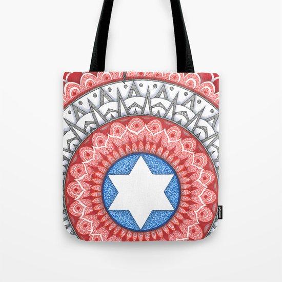 Captain (Star of David) America Tote Bag