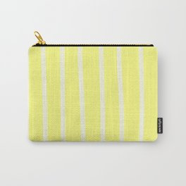 Butter Vertical Brush Strokes Carry-All Pouch