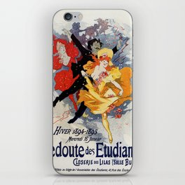 La Redoute des Etudiants Cheret 1894 iPhone Skin