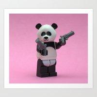 banksy Art Prints featuring  Banksy Panda by Minifignick