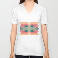 navajo V-neck T-shirts featuring Navajo 4 by hallwood