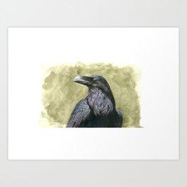 Proud Raven - Watercolor Art Print