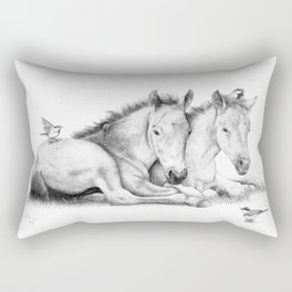 Twin Foals Rectangular Pillow