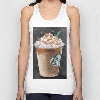 starbucks Tank Tops featuring Starbucks by Amit Naftali