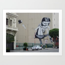 Street Art Downtown Los Angeles  Art Print