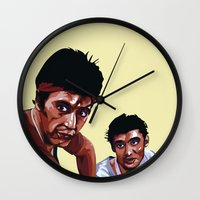 scarface Wall Clocks featuring Scarface by Taylor Gonzales
