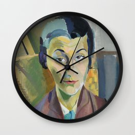 "Robert Delaunay ""Portrait of Maria Lani"" Wall Clock"
