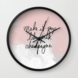 Popping Champagne Wall Clock