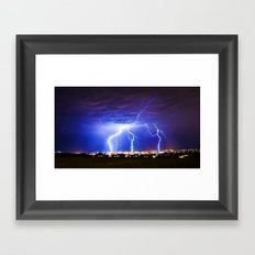 Chasing Storms Framed Art Print