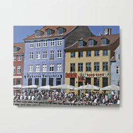 Colorful buildings in Nyhavn, Copenhagen Denmark Metal Print