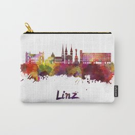 Linz skyline in watercolor Carry-All Pouch