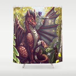 Mending the Dragon Shower Curtain