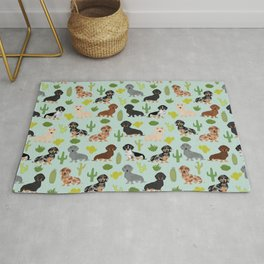 Dachshund cactus southwest dog breed gifts must have doxie dachsies Rug