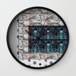textures for the interior grey blue color Wall Clock