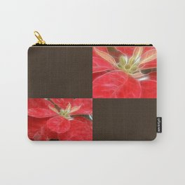 Mottled Red Poinsettia 1 Ephemeral Blank Q3F0 Carry-All Pouch