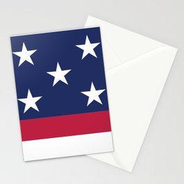 Simplified American Flag Stationery Cards