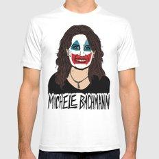 John Wayne Bachmann White MEDIUM Mens Fitted Tee