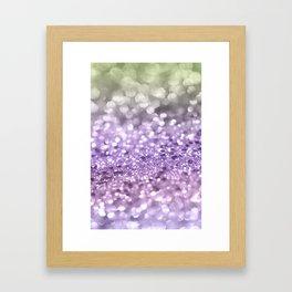 Purple Lavender Glitter #1 #shiny #decor #art #society6 Framed Art Print