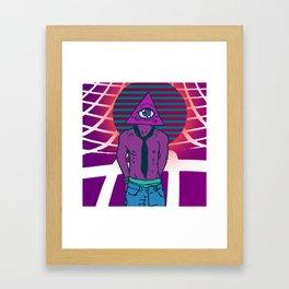 wave of illumination Framed Art Print