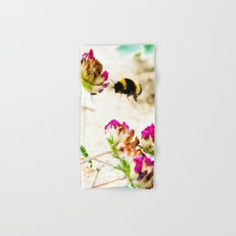 the flight of bumble bee on the dunes I Hand & Bath Towel