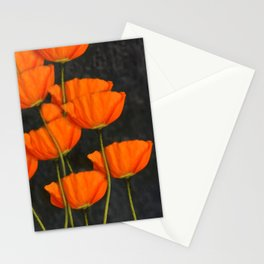 Poppies orange Stationery Cards