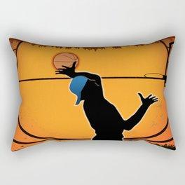 Basketball Player Silhouette Rectangular Pillow