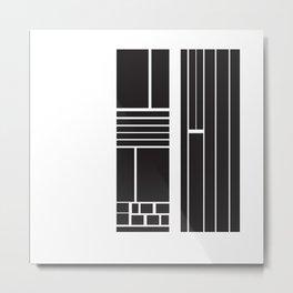 Similarity Line Metal Print