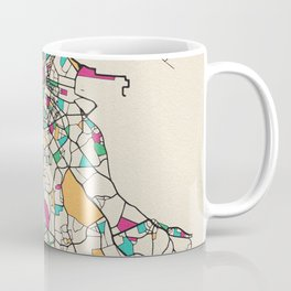 Colorful City Maps: Dublin, Ireland Coffee Mug