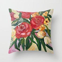 Casual Bouquet Throw Pillow