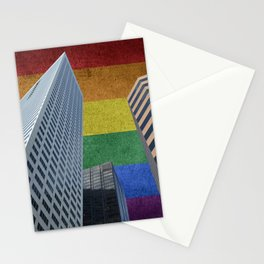 Houston LGBTQ Pride Skyline Stationery Cards