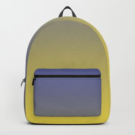 Yellow and Blue Ombre Gradient Blend 2021 Color of the Year Illuminating & Accent Shade Backpack