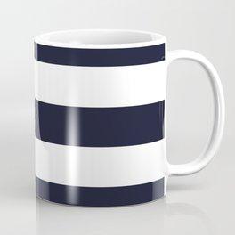 Elderberry - solid color - white stripes pattern Coffee Mug
