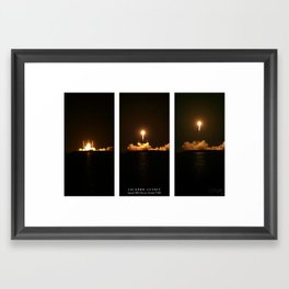 SpaceX Night Launch Framed Art Print